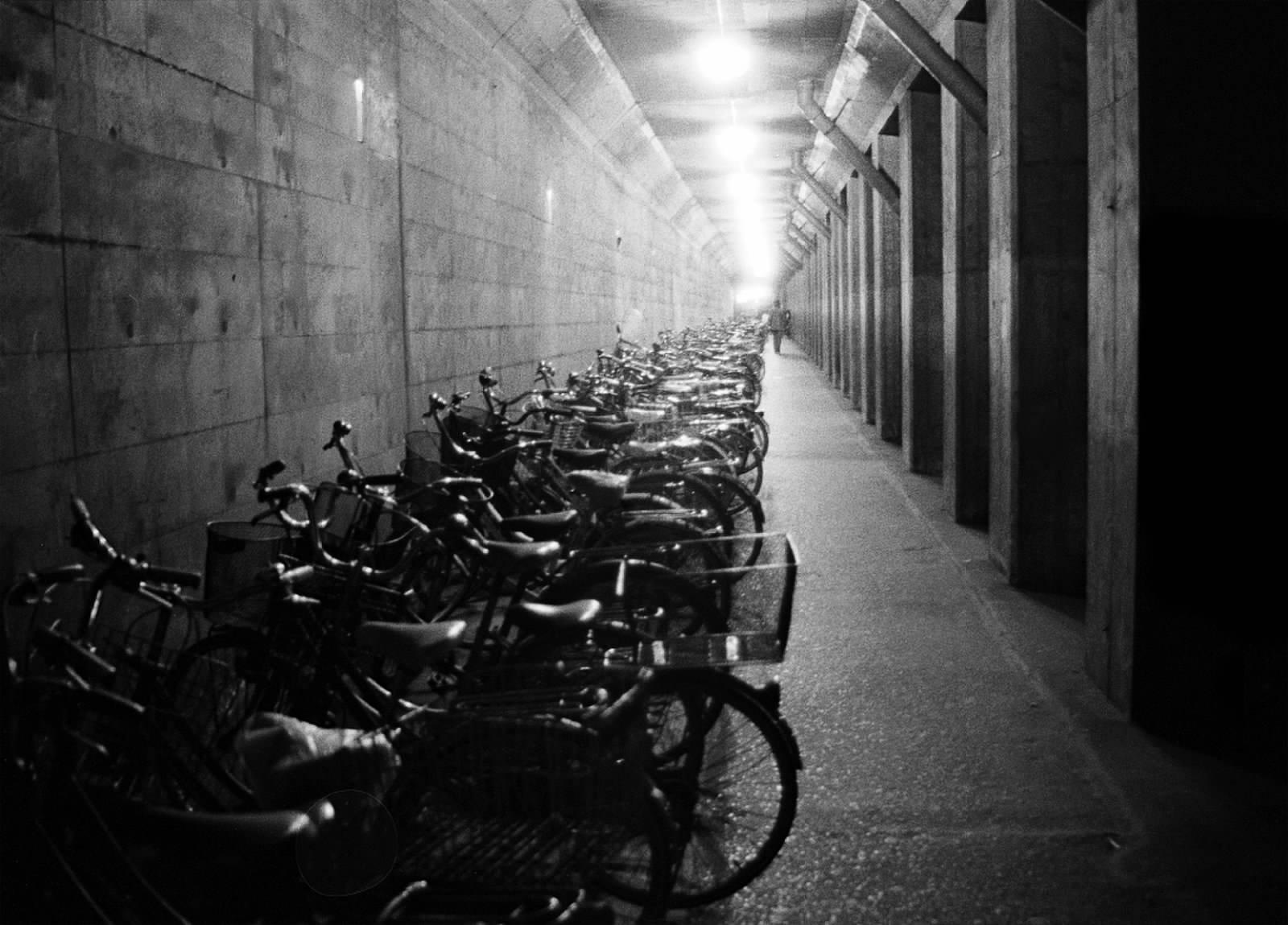 Long Line of Bicycles, 1990